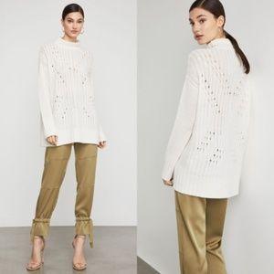 BCBGMaxAzria Turtleneck Sequin Tunic Sweater